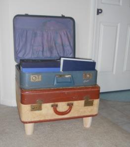 suitcase sitting